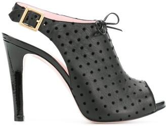 RED Valentino RED(V) polka dot slingback sandals