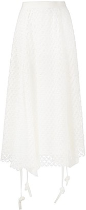 Loewe High Waist A-Line Skirt with Asymmetric Hem