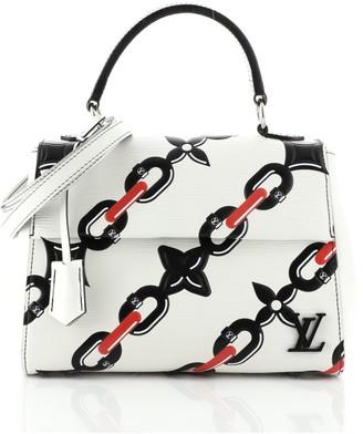 Louis Vuitton Cluny Top Handle Bag Chain Flower Print Epi Leather BB