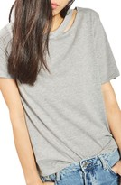 Topshop Women's Slash Choker Tee