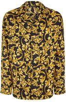 Versace Barocco Silk Pyjama Shirt