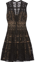 Elie Saab Guipure Lace Dress - Black