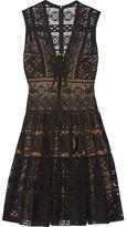 Elie Saab Guipure Lace Dress - Black