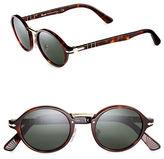 Persol 46mm Suprema Polarized Round Sunglasses