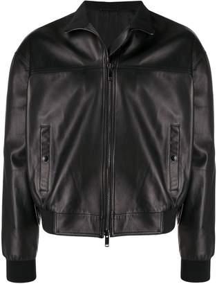 Valentino leather bomber jacket