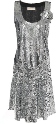 MICHAEL Michael Kors Appliqued Sequined Tulle Mini Dress