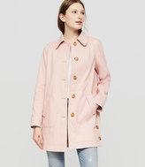 LOFT Petite Side Button Coat