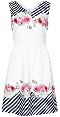 Yumi Stripe And Flower Skater Dress