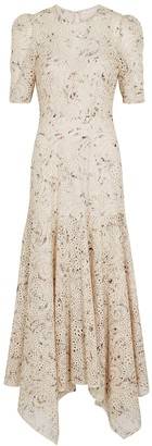 Veronica Beard Balsam eyelet-embroidered georgette maxi dress