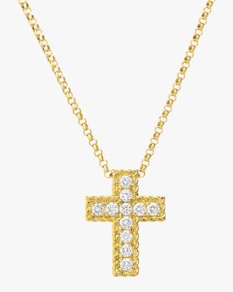 Roberto Coin Princess-Cut Cross Pendant Necklace