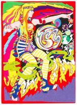 Olympia Le-Tan psychedelic motif clutch - women - Cotton/Wool Felt - One Size