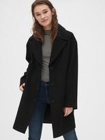 Gap Oversized Wool-Blend Cocoon Coat