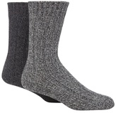 Mantaray Pack Of Two Grey Chunky Knit Wool Twist Socks