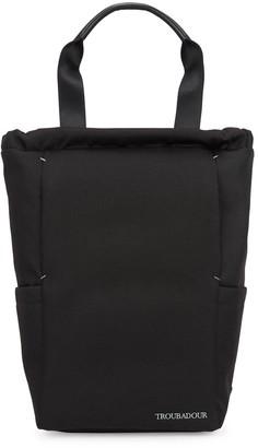 Troubadour Black Canvas Backpack