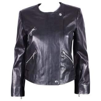 Etoile Isabel Marant Black Leather Trench coats