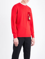 Fendi Eye-motif virgin wool jumper