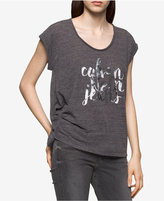 Calvin Klein Jeans Ruched Logo Graphic T-Shirt