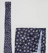 Next Tie & Pocket Square Set In Blue Floral