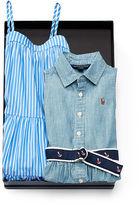 Ralph Lauren 2-6X Cotton Dress 2-Piece Gift Set