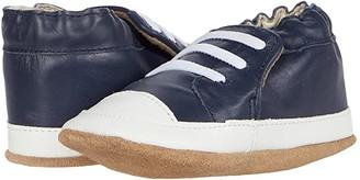 Robeez Corey Soft Sole (Infant/Toddler) (Navy) Boy's Shoes