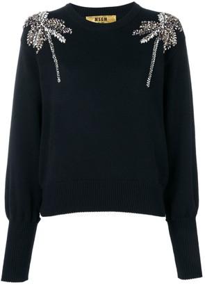 MSGM Crystal-Embellished Sweater
