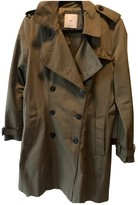MANGO Green Cotton Trench Coat for Women