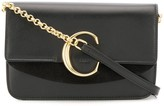 Chloé C ring leather wristlet