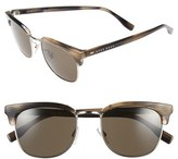 BOSS Men's 52Mm Retro Sunglasses - Brown Horn/ Silver/ Dark Brown