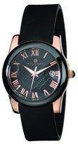 Rosegold Charles-Hubert, Paris Women's 6888-BRG Premium Collection Rose-Gold Stainless Steel with Black Ceramic Bezel Watch