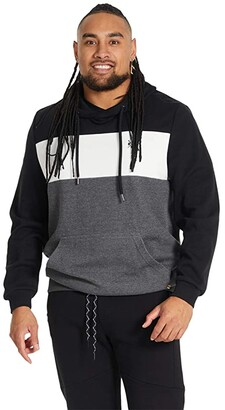Johnny Bigg Big Tall Marley Spliced Hoodie (Black) Men's Clothing