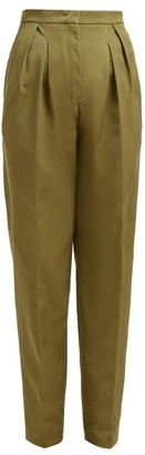Golden Goose Felicia High Rise Straight Leg Trousers - Womens - Khaki