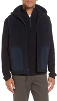 Vince Men's Reversible Hooded Faux Shearling Vest