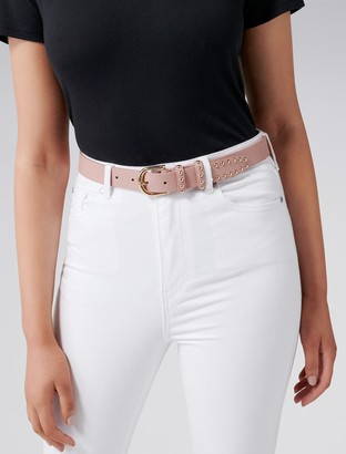 Forever New Jessica Studded Jeans Belt - Mauve Pink - xs s