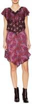 Anna Sui Silk Print Tiered Shift Dress