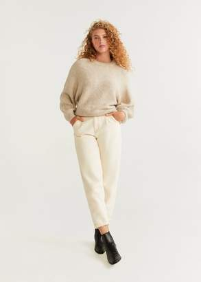 MANGO Dolman-sleeve sweater medium brown - XS - Women