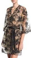 Cosabella Rosie Sheer-Lace Short Robe
