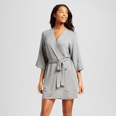 Xhilaration Women's Robe Heather Gray Floral