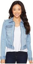 Liverpool Denim Zip Jacket in Vintage Super Comfort Stretch Denim Women's Coat