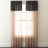 CHF Westgate Two-Tone Sheer Rod-Pocket Curtain Panel