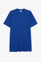 Monki Ribbed glitter t-shirt dress