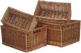 Houseology Double Steamed Storage Baskets Set Of 4