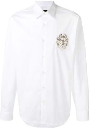Roberto Cavalli logo patch shirt