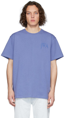 J.W.Anderson Blue Logo Embroidery T-Shirt