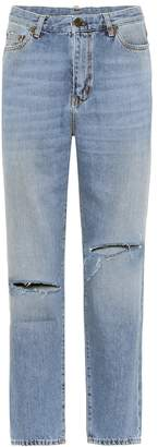 Saint Laurent High-waisted cropped jeans