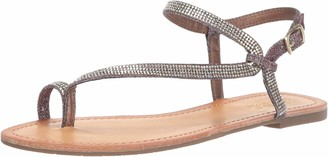 Kenneth Cole Reaction Women's Just Braid Flat Sandal with Toe Ring and Ankle Straps