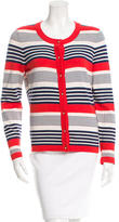 Kate Spade Striped Rib Knit-Trimmed Cardigan