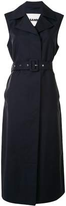 Jil Sander Sleeveless Long Trench Coat