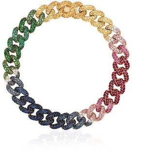Shay 18kt Yellow Gold Rainbow Gemstone Chain Bracelet