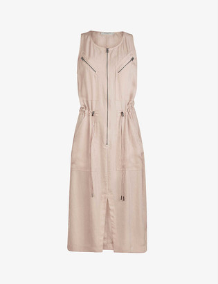 AllSaints Vola satin midi dress