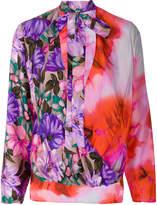 MSGM floral tie-dye blouse